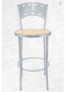 Sgabello in metallo e seduta in polipropilene altezza standard