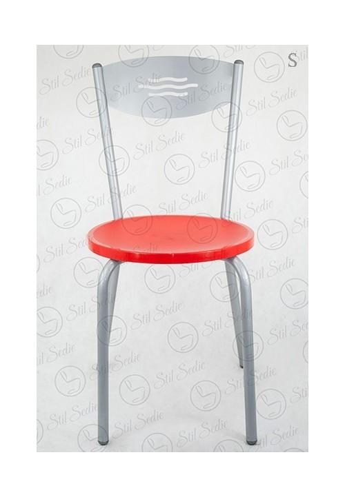 Sedute In Plastica Per Sedie.Sedia Cucina Wave Plastica